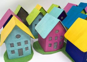Paper houses gifts crafting weekend in Vermont