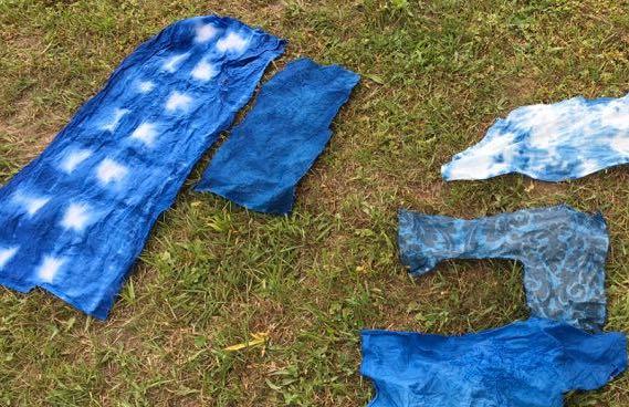 Dyeing indigo for zipper bags