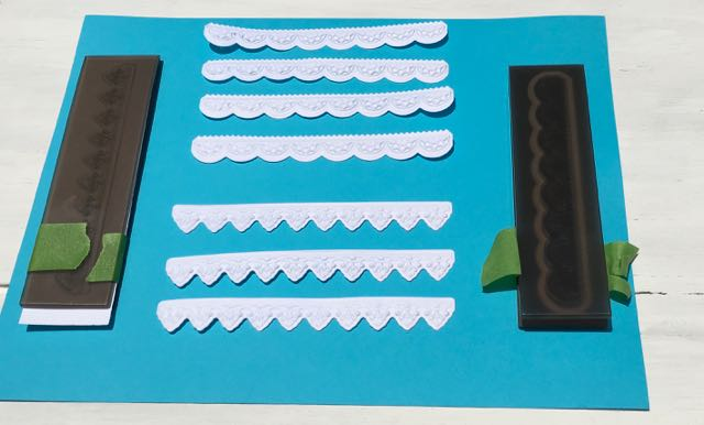 Sizzix 3-D Impresslits cut paper strips tutorial | paper crafts | Tim Holtz | vintage trim