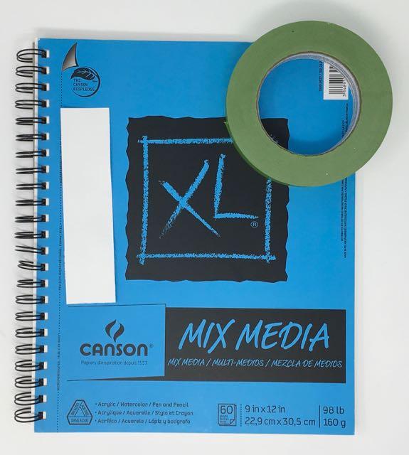 Supplies for Sizzix Impresslits 3D Embossing Folders | Watercolor Paper | Painter's Tape