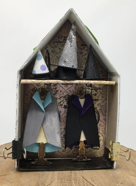 Witches' Hats on display at the miniature haberdashery shop