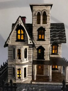 Abandoned Italianate Mansion Halloween House LED lights