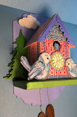 Side view of the Birdhouse Cuckoo Clock
