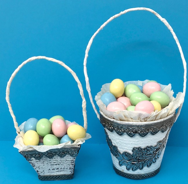Impresslit Decorated Peat pot Easter Baskets