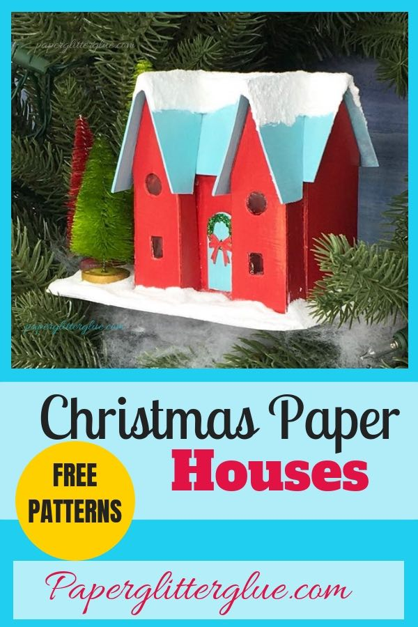 Instructions to make the Happy Holiday House Christmas Putz House