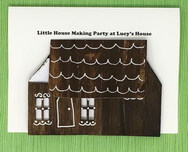 Pop-up house Invitation to Little Putz house making craft party