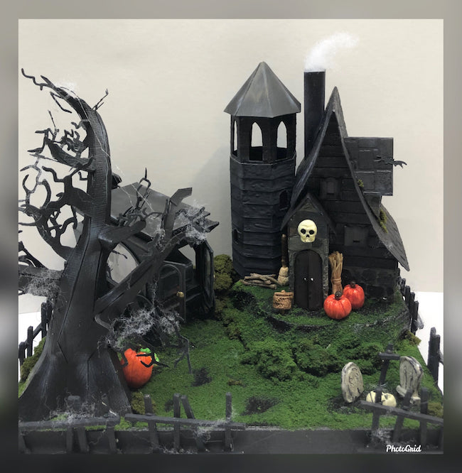 Iris spooky Halloween cottage