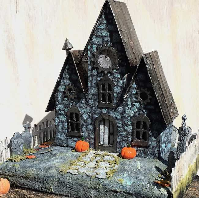 Jeremiah's Stone Halloween Paper House