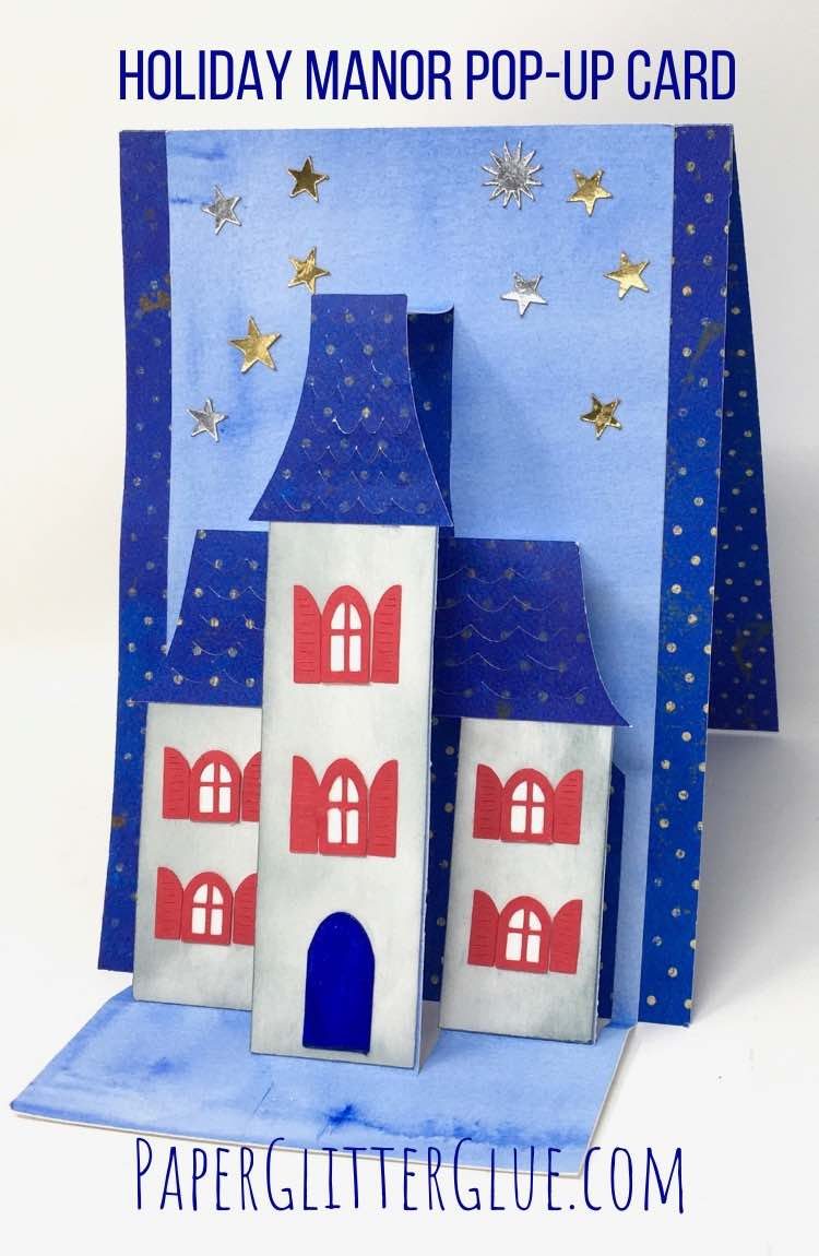 July 4th Holiday Manor House pop-up card