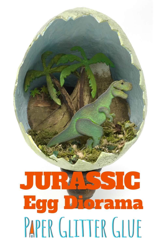 Jurassic Paper Mache Egg Diorama tutorial