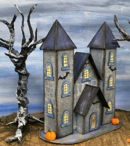 13 Days of Halloween castle #halloweenvillage #halloweencrafts #diyhalloween