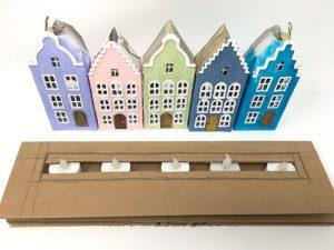 LED lights for Dutch Canal Putz houses Rainbow Row