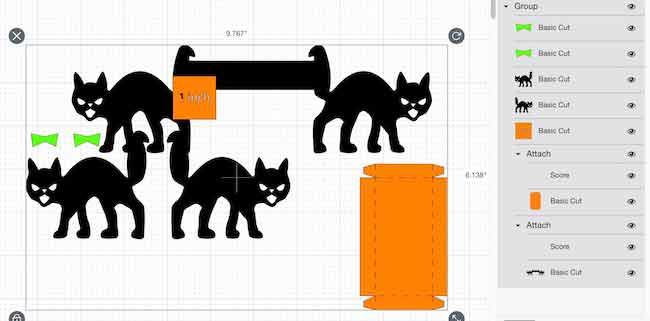 Larger version of miniature cat bench version in Cricut Design Space