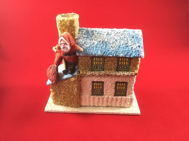 Santa candy box reproduction paperglitterglue