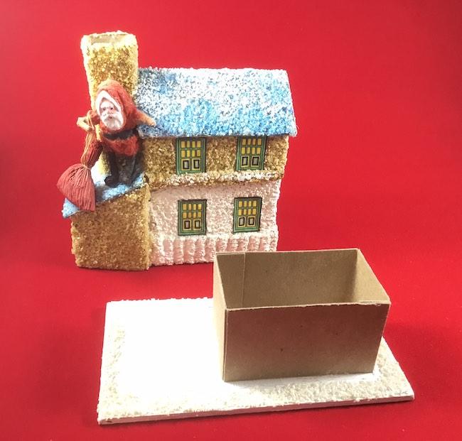 santa candy box open