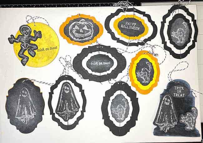 Layered Chalkboard Halloween Ornaments