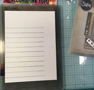 Layout for the DIY stencil marked with pencil on the Yupo waterproof paper #DIYstencil #howtomakestencil #stenciltips