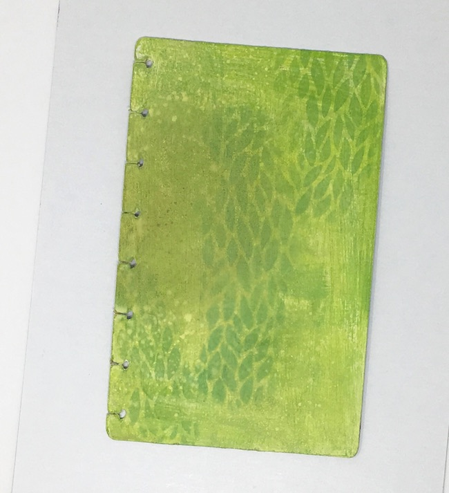 Leafy Stencil Notebook cover