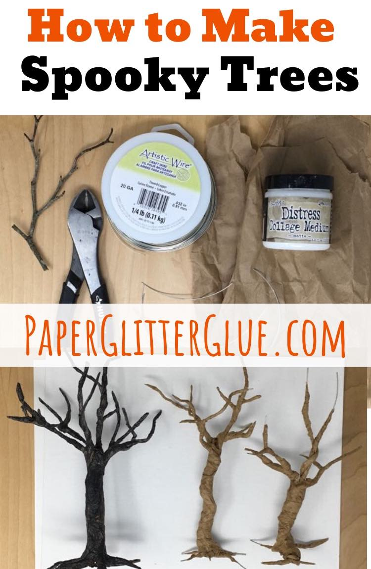 Learn to make spooky paper trees