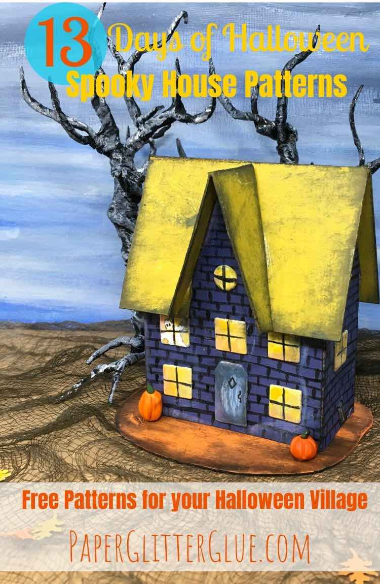 Little Haunted Halloween paper house