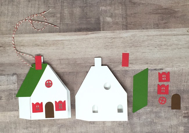 Little Holiday house gift tag in progress
