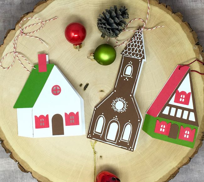 Little House gift tags to make