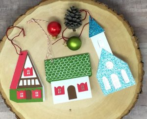 Little house paper gift tags to make