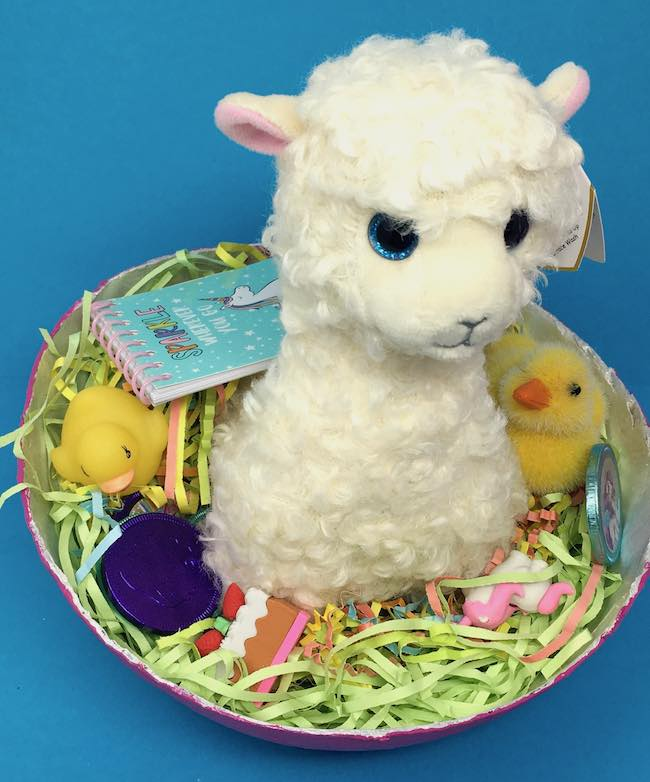 Llama goodies surprise paper mache egg