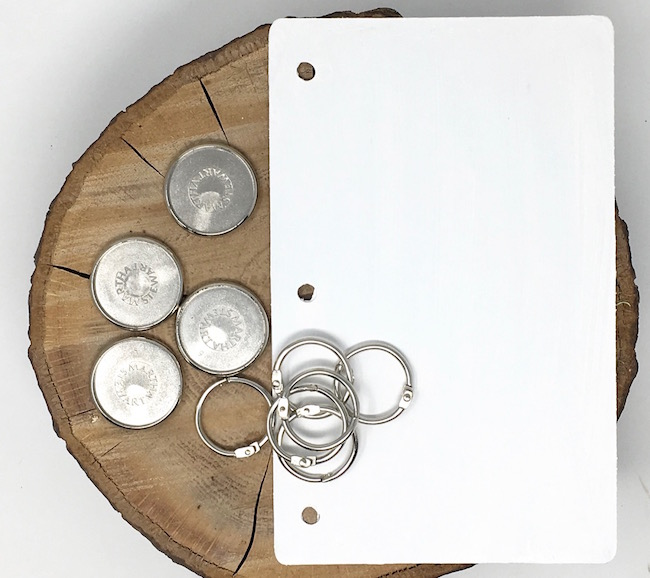 Options for DIY Journal Notebook binding discs or rings