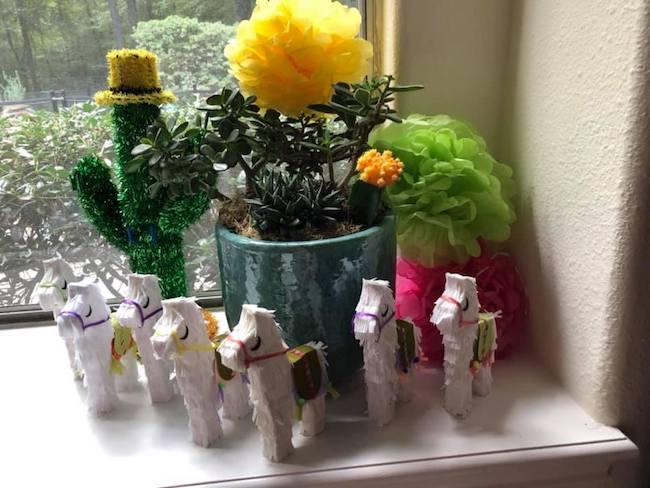 DIY mini paper llamas that a reader made