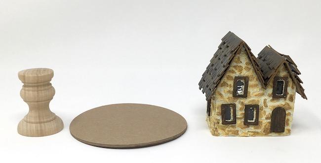 Main components little Irish Stone Cottage pedestal base