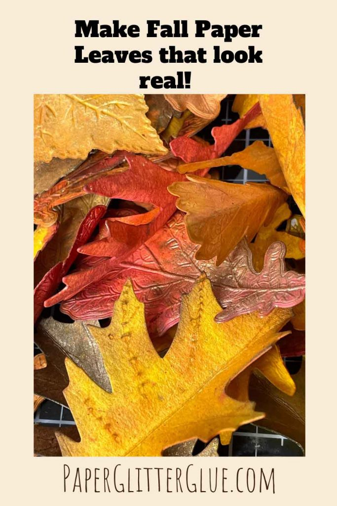 How to make colorful leaves from paper for autumn crafts - showing paper leaves