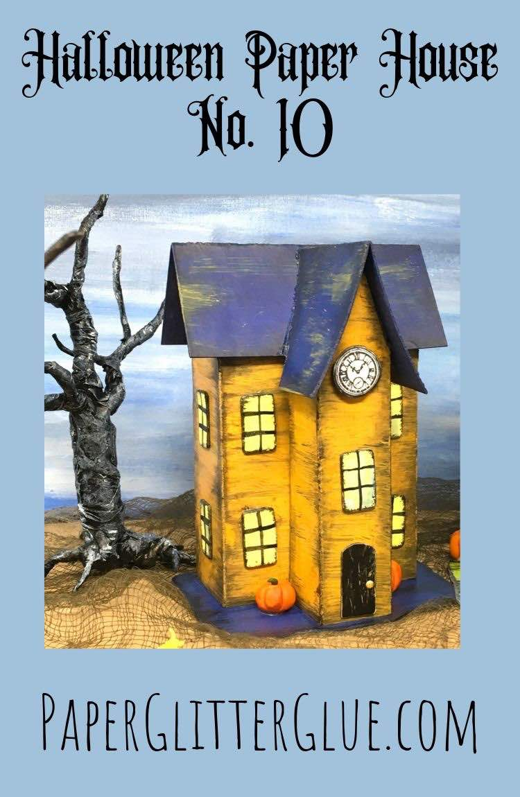Make Halloween Paper House No 10