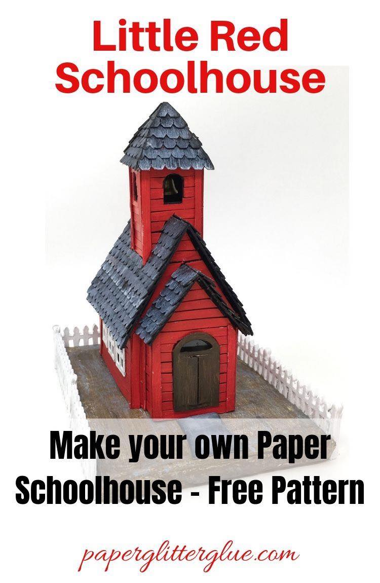 DIY Little Red Schoolhouse miniature House