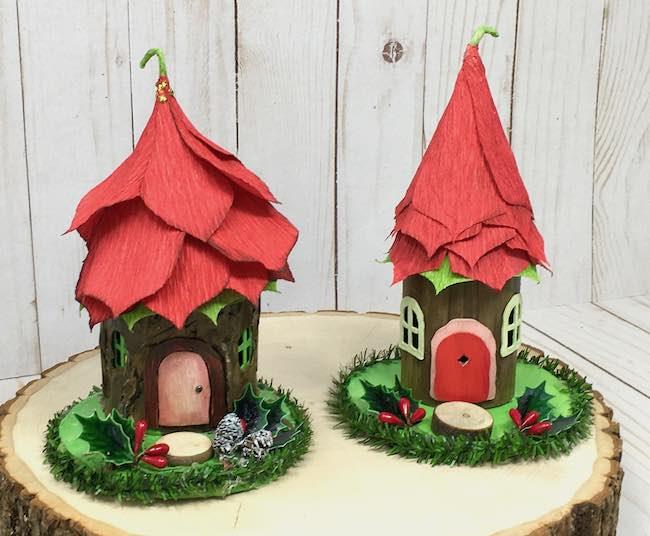 Make Poinsettia Fairy House