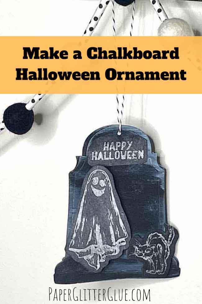 Make a Chalkboard Halloween Ornament