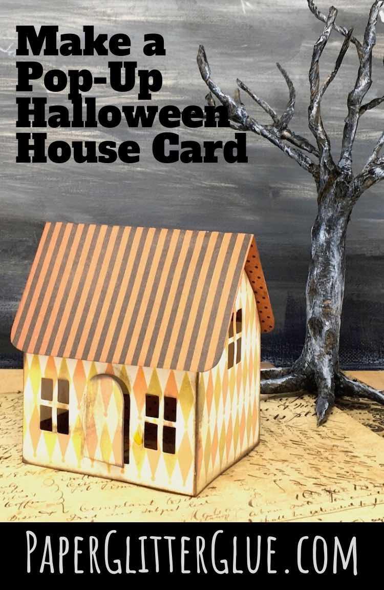Make a Halloween House pop-up card