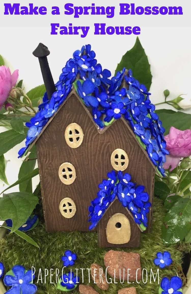 Make a Spring Blossom Miniature Paper Fairy House