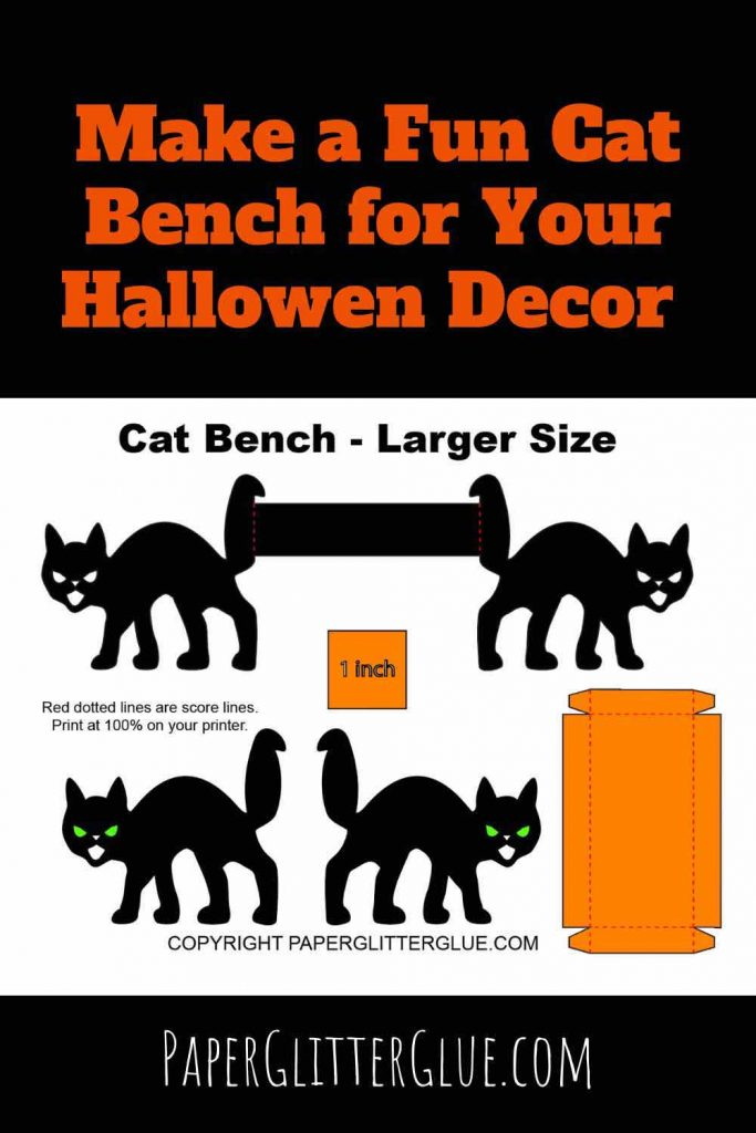 Make a cat bench for dollhouse or other decor