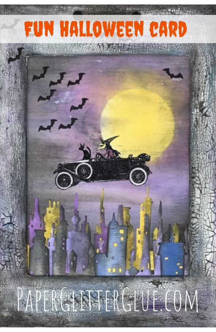 Make a fun Halloween witch card or wallhanging