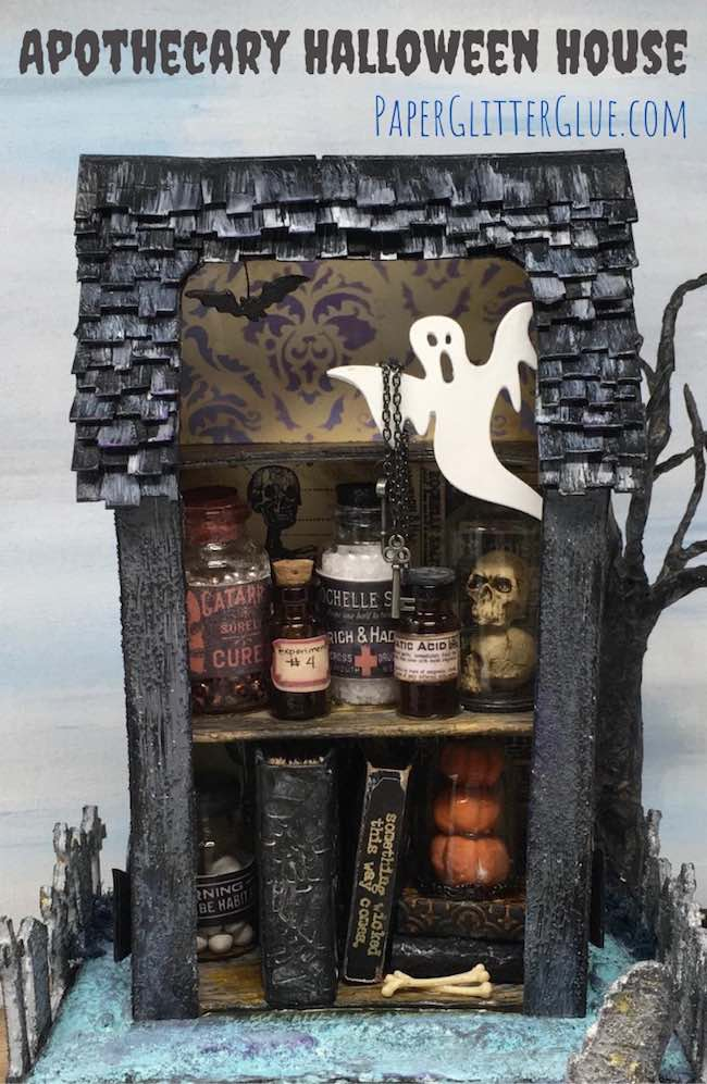 Make miniature Apothecary Halloween House