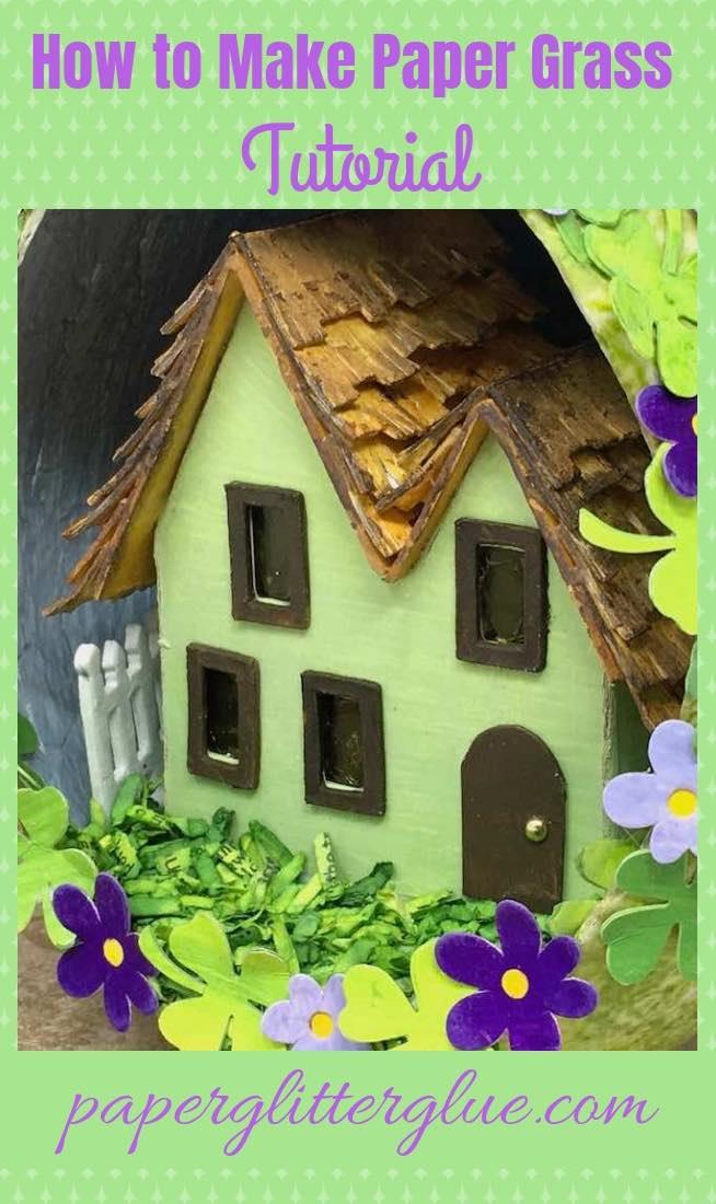 Make DIY paper grass tutorial for Springtime