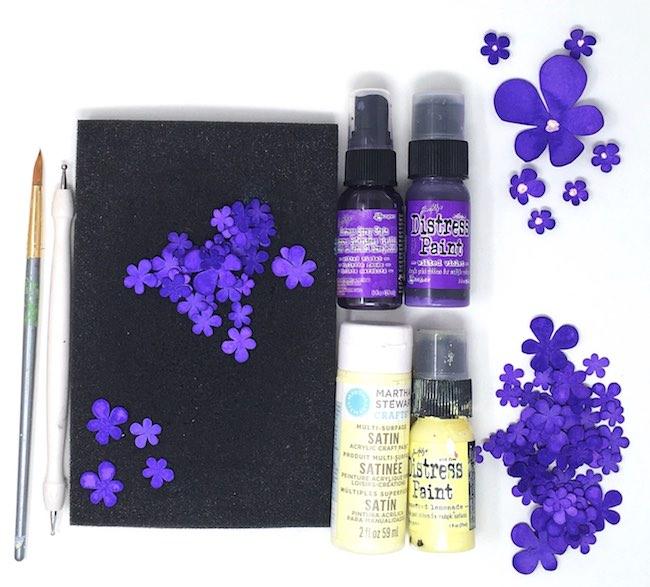 Make paper violet flowers