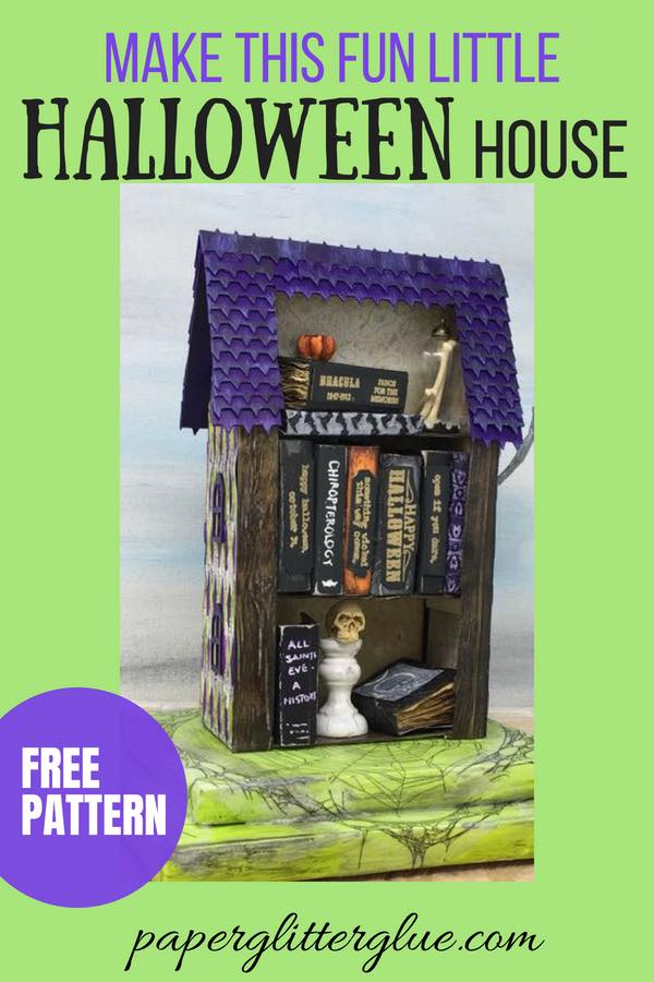 Make this fun little Halloween house with the free pattern and tutorial