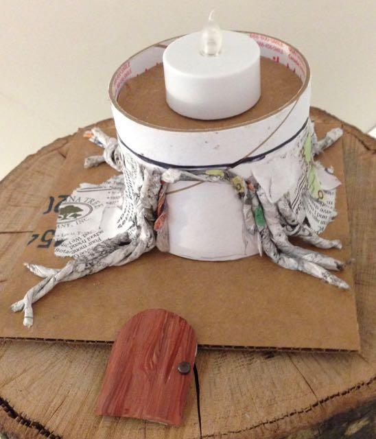 Making base of the Black Hat Inn Halloween House