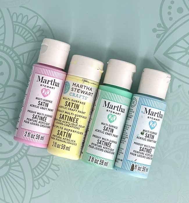Martha Stewart Acrylic paint bottles for making paper houses