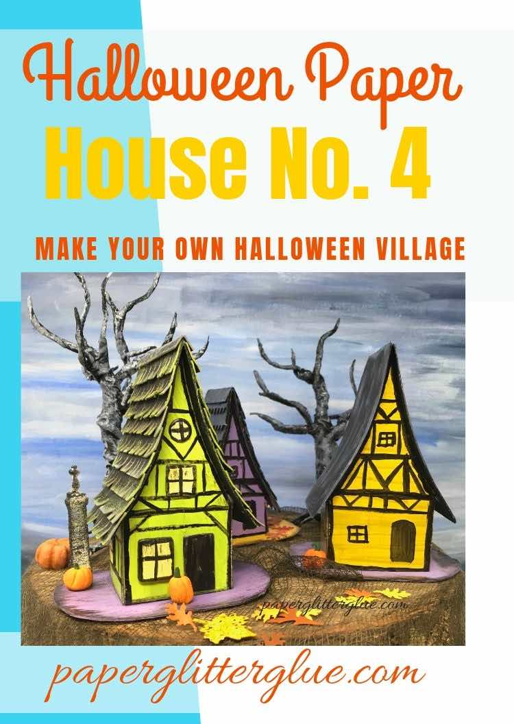 Medieval Halloween Paper House 4