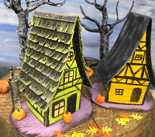 Medieval Haunted Paper Houses roof view