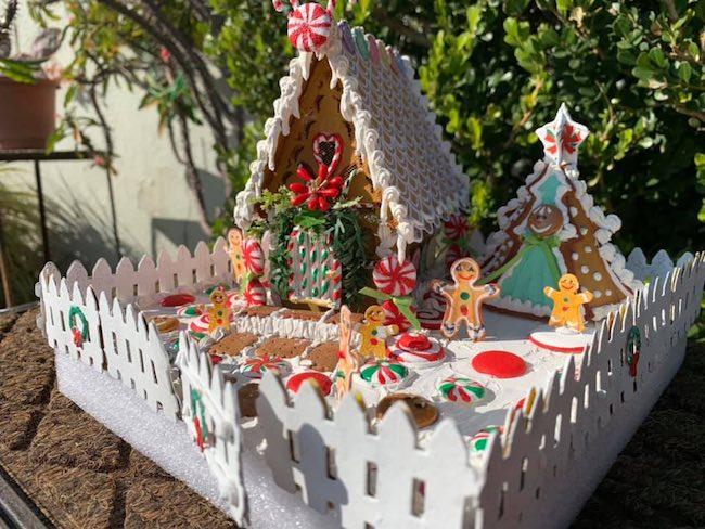 Melanie Duron's gingerbread house