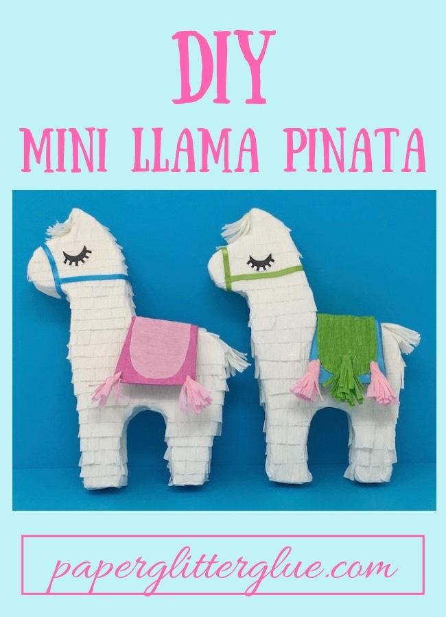 Two mini llama pinatas